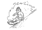 Disegno da colorare snowboard