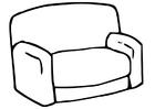 Disegno da colorare sofà