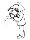 Disegno da colorare soffiarsi il naso