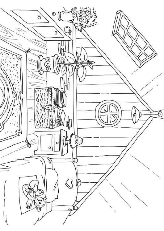 Disegno da colorare soffitta cat 26226 for Casa immagini da colorare