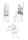 Disegno da colorare soldati dell'antica Grecia