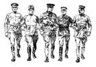 Disegno da colorare soldati della prima guerra mondiale
