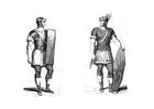 Disegno da colorare soldati romani