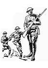 Disegno da colorare soldato prima guerra mondiale