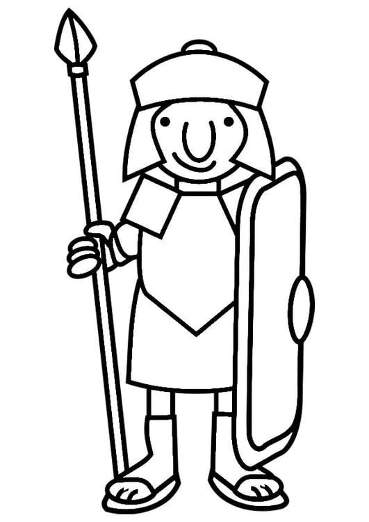 Disegno da colorare soldato romano - Cat. 19813. e2a7cbc075ab