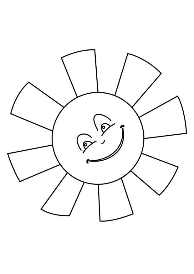 Disegno da colorare sole disegni da colorare e stampare for Immagini sole da colorare