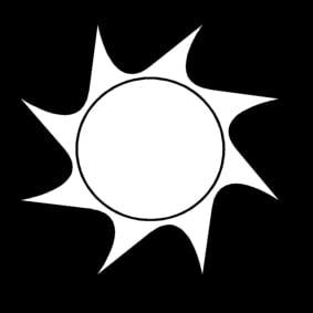 Disegno da colorare sole cat 13612 for Sole disegno da colorare