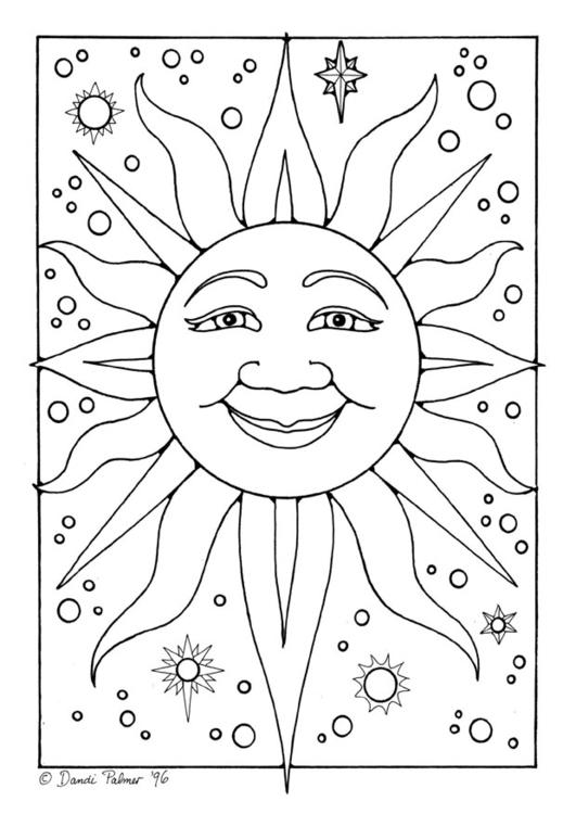 Immagine Sole Da Colorare.Disegno Da Colorare Sole Disegni Da Colorare E Stampare Gratis