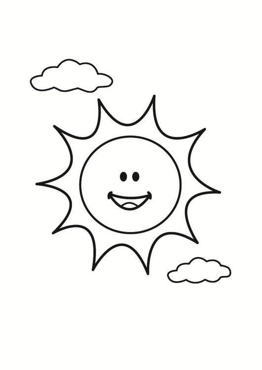 Disegno da colorare sole disegni da colorare e stampare for Sole disegno da colorare