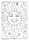 Disegno da colorare sole