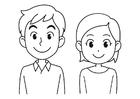 Disegno da colorare sorridere