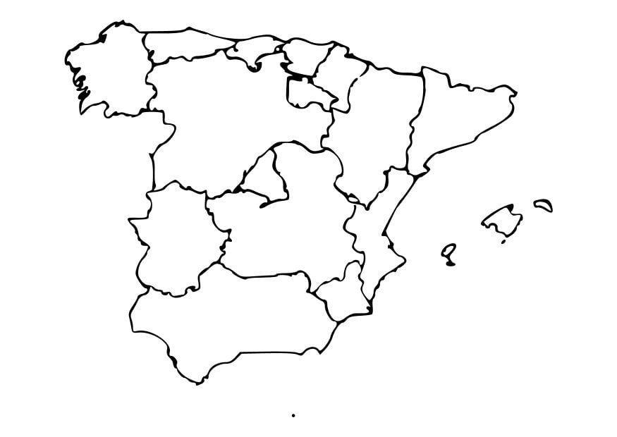 Cartina Muta Della Spagna Da Completare.Cartina Geografica Della Spagna Da Stampare