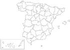 Disegno da colorare Spagna - provincie