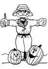 Disegno da colorare spaventapasseri cat 7354 - Spaventapasseri pagina da colorare ...