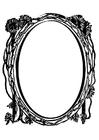 Disegno da colorare specchio