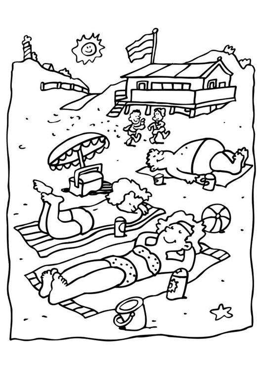 Disegno da colorare spiaggia cat 6550 for Disegno della casa sulla spiaggia