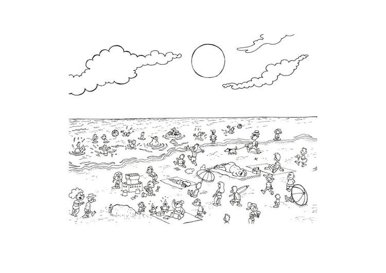 Disegno Da Colorare Spiaggia Cat 9604
