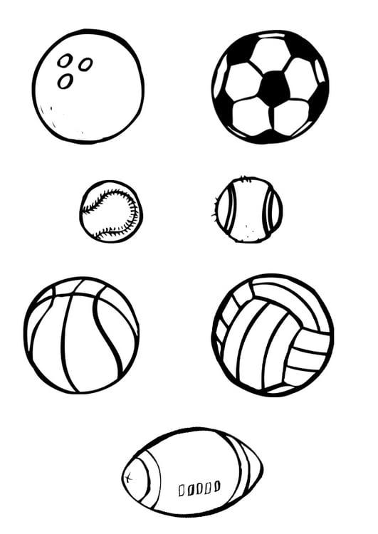 Disegno Da Colorare Sport Con La Palla Cat 10386