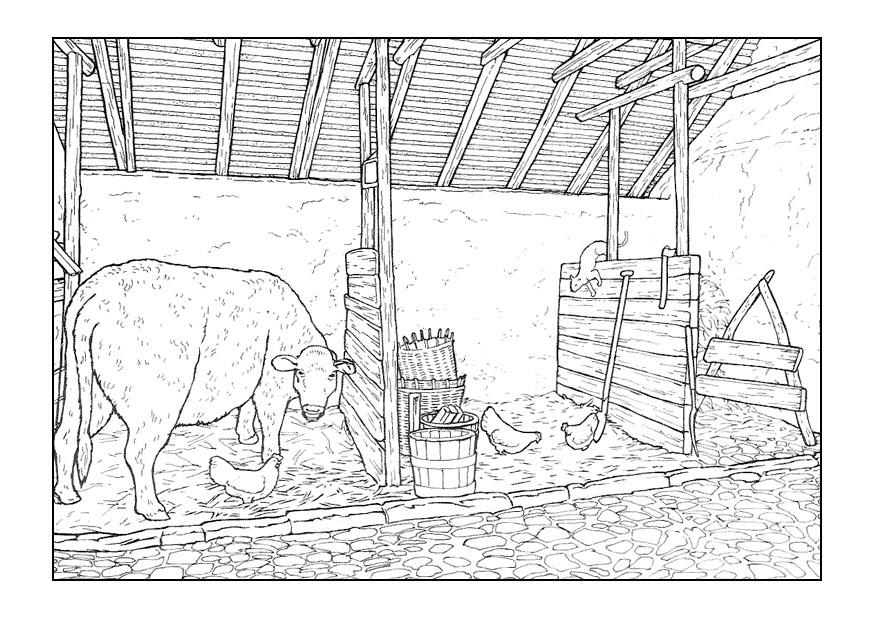 Kleurplaten Playmobil Paarden Disegno Da Colorare Stalla Cat 9894 Images
