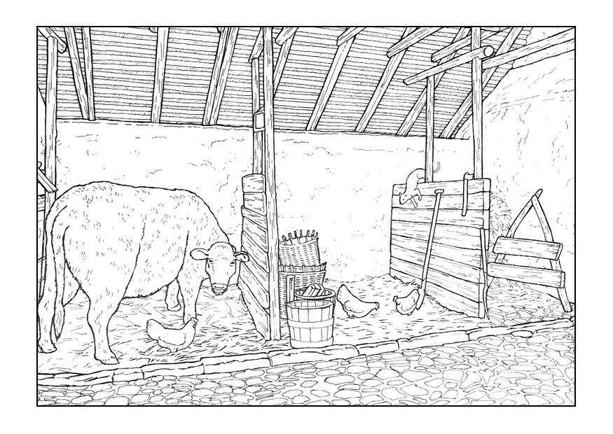 Paarden In De Stal Kleurplaten Disegno Da Colorare Stalla Cat 9896 Images