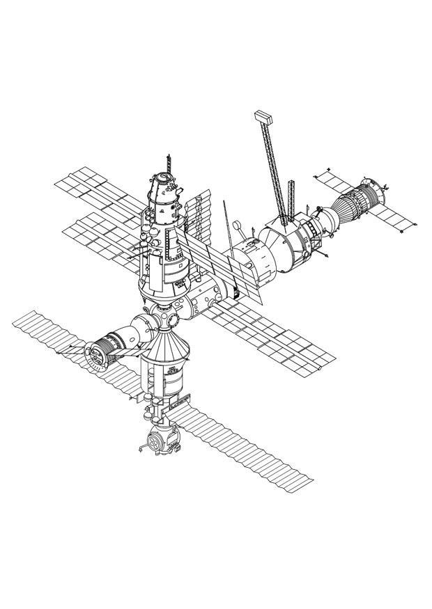 Kleurplaat Wc Disegno Da Colorare Stazione Spaziale Disegni Da
