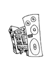Disegno da colorare stereo