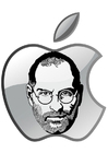 Disegni da colorare Steve Jobs - Apple