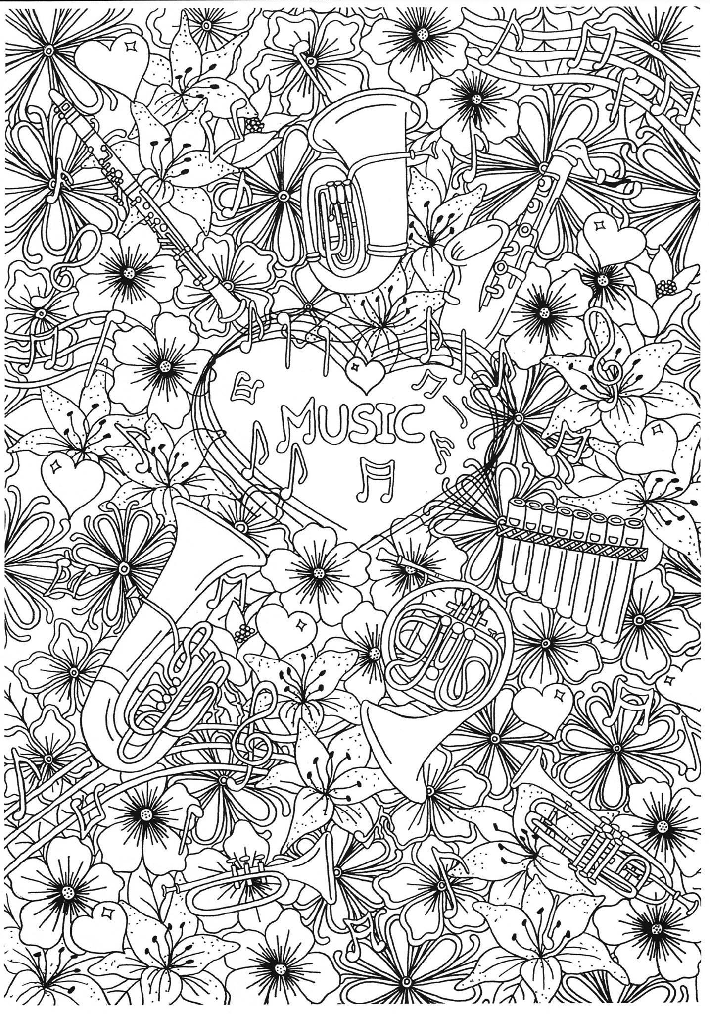 Disegno Da Colorare Strumenti Musicali A Fiato Disegni Da Colorare E Stampare Gratis Imm 31286