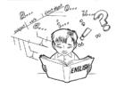 Disegno da colorare studiare inglese