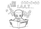 Disegno da colorare studiare matematica