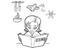 Disegno da colorare studiare scienze