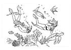 Disegno da colorare subacqueo