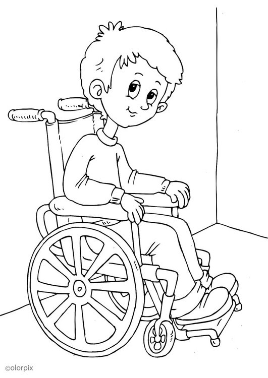 Disegno da colorare sulla sedia a rotelle cat 25947 - Sedia a dondolo disegno ...