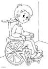 Disegno da colorare sulla sedia a rotelle