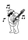Disegno da colorare suonare la chitarra