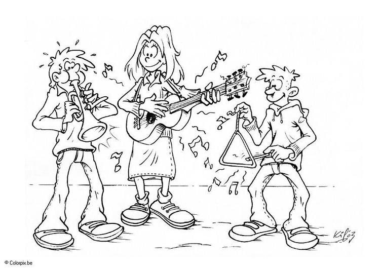 Disegno Da Colorare Suonare Musica Cat 6601 Images