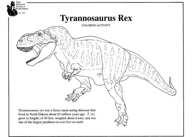 Disegno Di Un Tyrannosaurus Rex Da Colorare Disegni Da Colorare