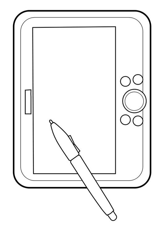 disegno da colorare tablet grafici cat 22851. Black Bedroom Furniture Sets. Home Design Ideas