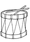 Disegno da colorare tamburello