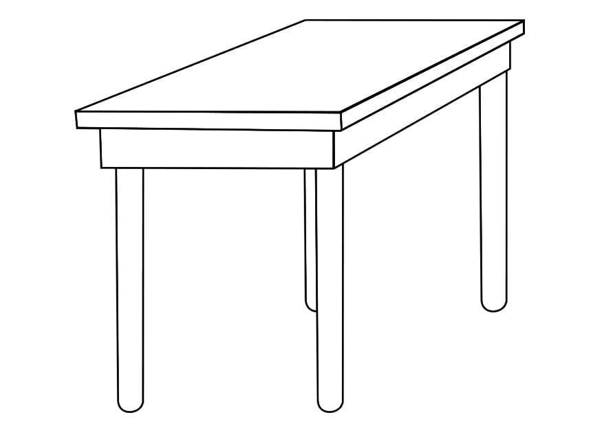 Disegno da colorare tavolo cat 19258 - Tavolo da disegno con tecnigrafo ...