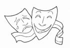 Maschere Greche Teatro Da Colorare Powermall