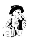 Disegno da colorare teddy in viaggio