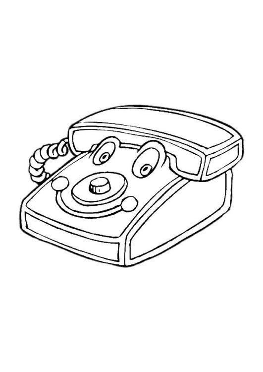 Disegno Da Colorare Telefono Giocattolo Cat 22881 Images