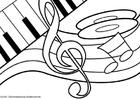 Disegno da colorare tema musicale
