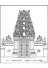Disegno da colorare tempio
