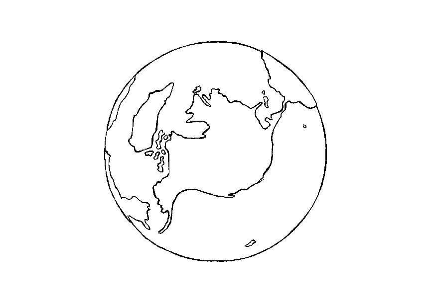 Disegno da colorare terra cat 14335 - Immagine da colorare della terra ...