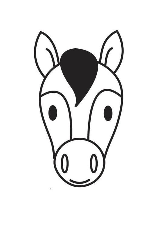 Disegno da colorare testa di cavallo cat 18414 images for Immagini di cavalli da stampare