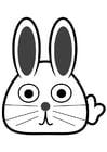 Disegno da colorare testa di coniglio