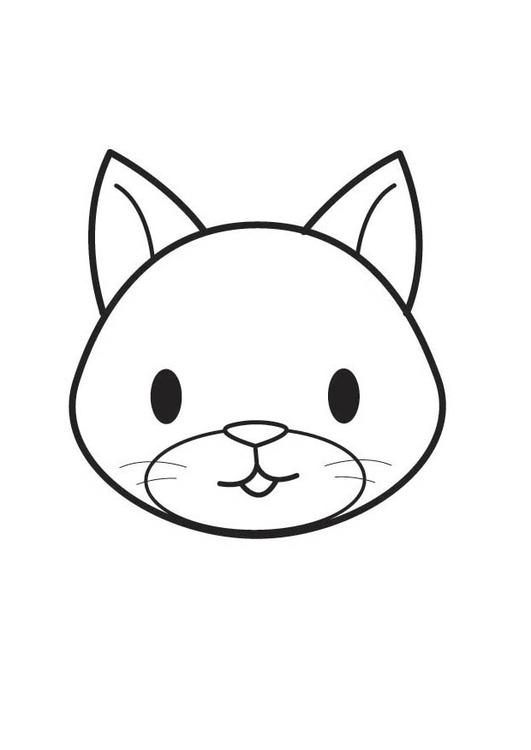 Disegno Da Colorare Testa Di Gatto Cat 17863