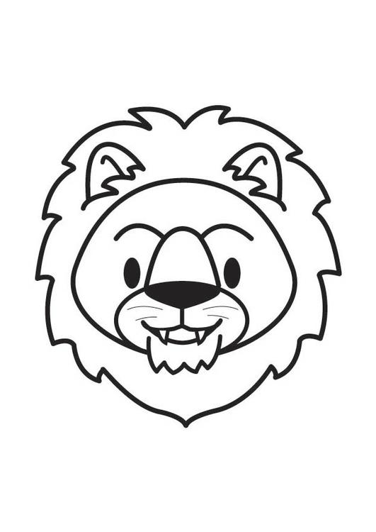 Disegno Da Colorare Testa Di Leone Cat 17901